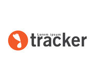 Tracker Logo Design Stock Photo