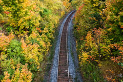 Tracking autumn Royalty Free Stock Images