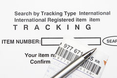 Tracking number. Search item by entering Tracking number concept Royalty Free Stock Photography