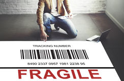 Tracking Number Parcel Document Concept Stock Photos