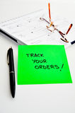 Tracking orders Stock Photography