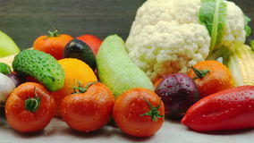 Tracking Shot of Fresh Organic Vegetables stock video footage