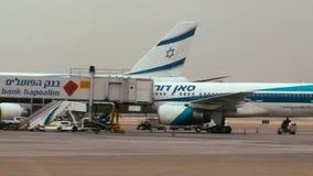 Tracking shot of terminal 3 at Ben Gurion international airport stock video