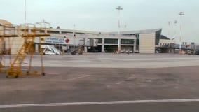 Tracking shot of terminal 3 at Ben Gurion international airport stock video footage