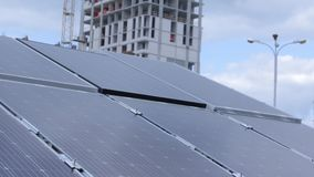 Tracking Solar Panel stock video footage