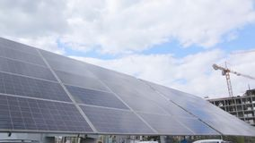 Tracking Solar Panel Moves stock video footage