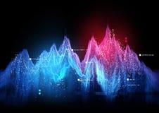 Tracking Statistics Visualization royalty free illustration