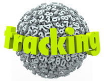 Tracking Word Numbers Online Data Information Order Finding Stock Photography