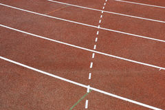 Tracklines. Lines on running track Royalty Free Stock Photography