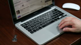 TrackPad en USB-Laptop stock footage
