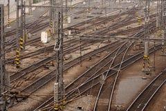 Tracks. Multiple tracks - a railway station Royalty Free Stock Photography