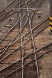 Tracks. Multiple tracks - a railway station Royalty Free Stock Image