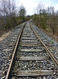 Tracks of an abandoned railway Stock Image