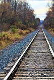 Railway line at sunset royalty free stock image