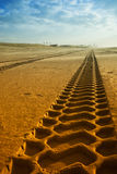 Tracks on the beach Royalty Free Stock Photos
