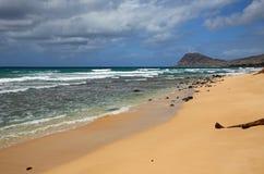 Tracks Beach and west Oahu coast Stock Photos