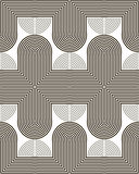 Tracks of bent and curved lines seamless pattern Stock Images