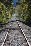 Tracks into the distance. Train tracks fading in the distance Royalty Free Stock Photos