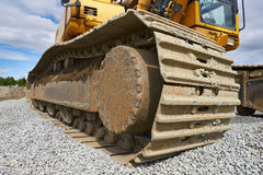 Tracks of an excavator Royalty Free Stock Photography