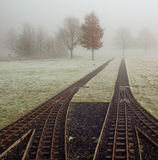 Tracks in the fog Royalty Free Stock Photos