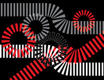 Tracks and Gears. Are featured in an abstract background illustration Royalty Free Stock Images