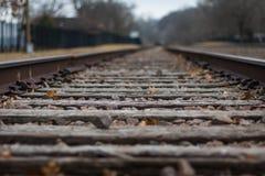 Tracks go on forever Stock Image