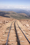 Tracks going down Pike's Peak in colorado Royalty Free Stock Image