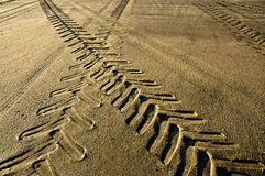 Tracks In The Sand. Stock Images