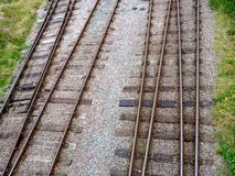 Tracks. Leading to the nottingham transport heritage centre Royalty Free Stock Images