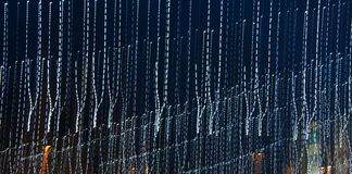Tracks from the light of Christmas garlands, nice abstraction Night city royalty free stock photo