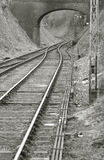 Tracks merging Royalty Free Stock Images