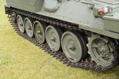 Tracks of a Military Armoured Vehicle. Royalty Free Stock Images