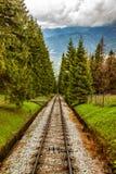 Tracks in mountain Stock Photo