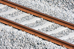 Tracks of a new railway Stock Image