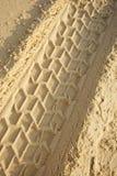 Tracks On A Sandy Beach Stock Photos