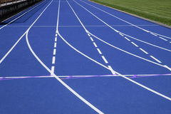 Free Tracks On Blue Field Stock Photo - 4849630