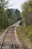 Tracks over a bridge Royalty Free Stock Image