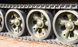 Tracks of the panzer. Stock Image