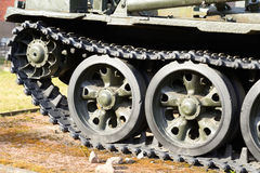 Tracks of the panzer. Royalty Free Stock Photo