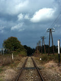 Tracks. Railroad tracks on a sunny day Royalty Free Stock Photo