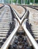 Tracks. Rails. Stock Image