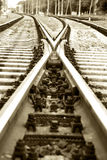 Tracks. Rails. Stock Photos
