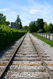 Tracks. Railway tracks leading your eyes into the distance Stock Image