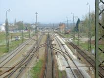 Tracks. Railway tracks in upper bavaria facing the alps Stock Photos