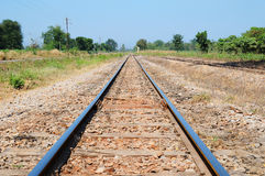 Tracks of river Kwai Death Railway Royalty Free Stock Photos
