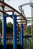 The tracks of roller coasters. In an amusement park Royalty Free Stock Photo