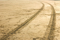 Tracks in the sand. (1 Royalty Free Stock Photos