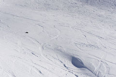 Tracks on a Slope, freeride Stock Image