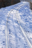 The tracks in the snow Stock Image