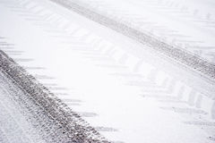 Tracks in the snow Royalty Free Stock Photo